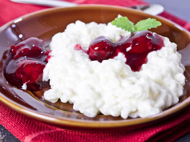 Сладък ориз с череши и кленов сироп