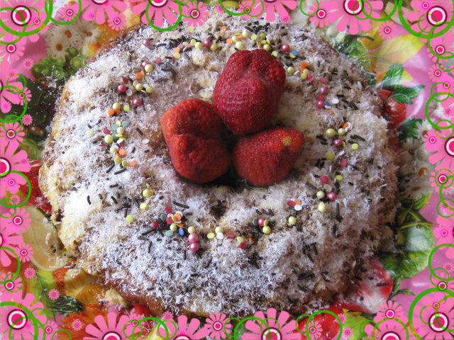 Крем карамелен кекс (от козунак)