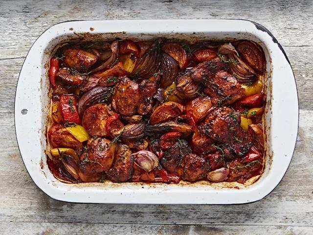 Пилешки бутчета със зеленчуци от Джейми Оливър