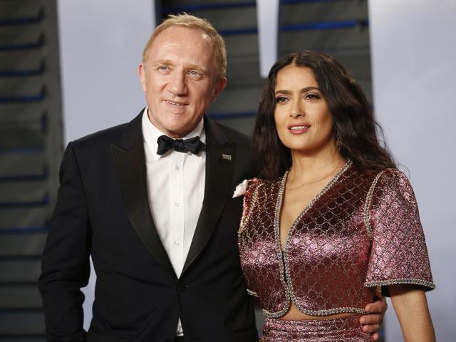 Салма Хайек и Франсоа-Анри Пино. Снимка: Reuters