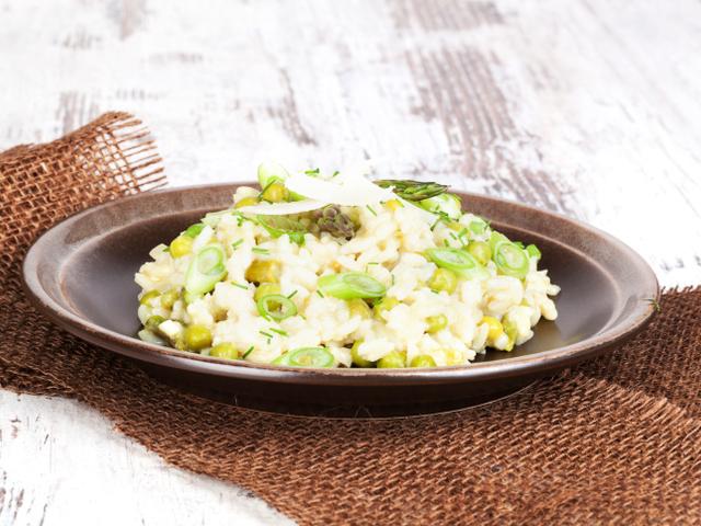 Ориз с грах и пармезан