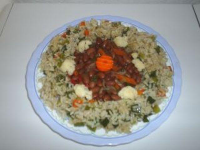 Зрял боб с ориз
