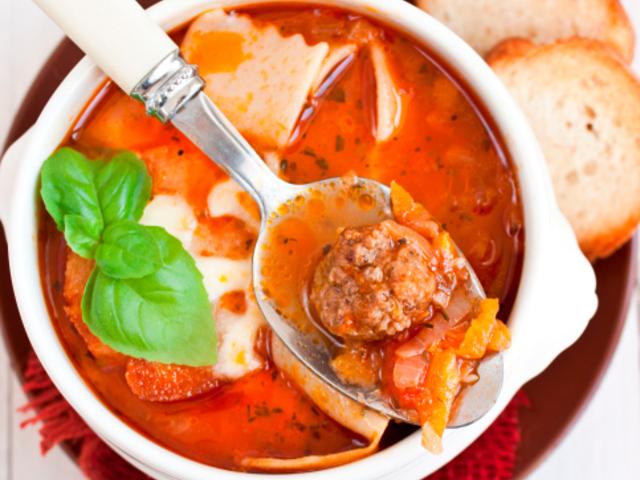 Италианска супа с кюфтенца