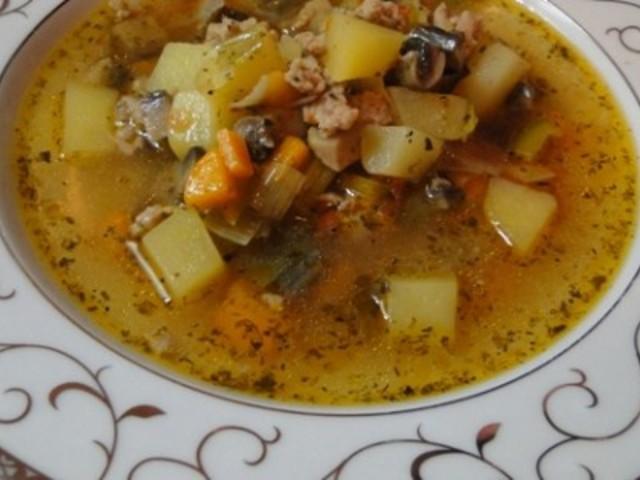 Супа с кайма и зеленчуци