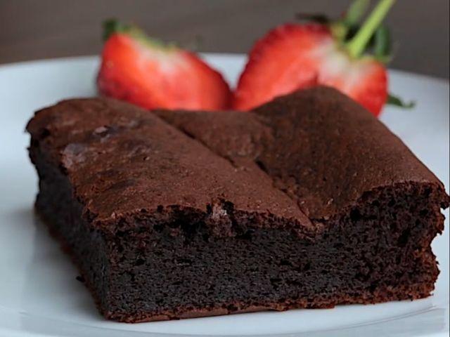 Брауни без брашно с течен шоколад