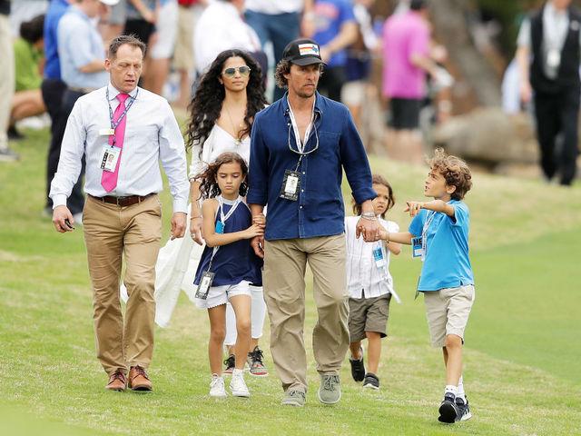 Матю Макконъхи и семейството му. Снимка: Getty images.
