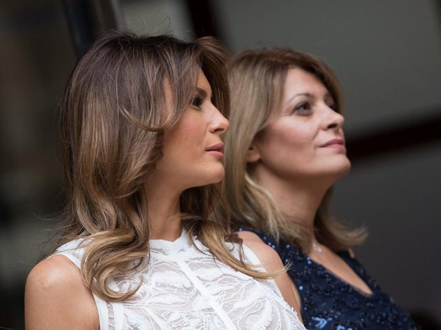 Мелания Тръмп и Десислава Радева. Снимка: Reuters