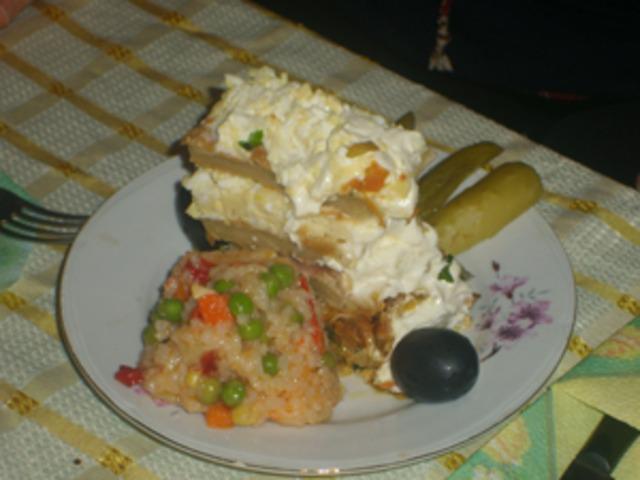 """Празнична солена торта """"Магията на Олинеза"""""""