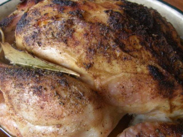 Ароматно печено пиле с мащерка