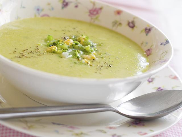 Крем супа с броколи и карфиол