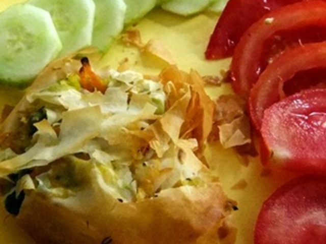 Банички със зеленчуци и семена