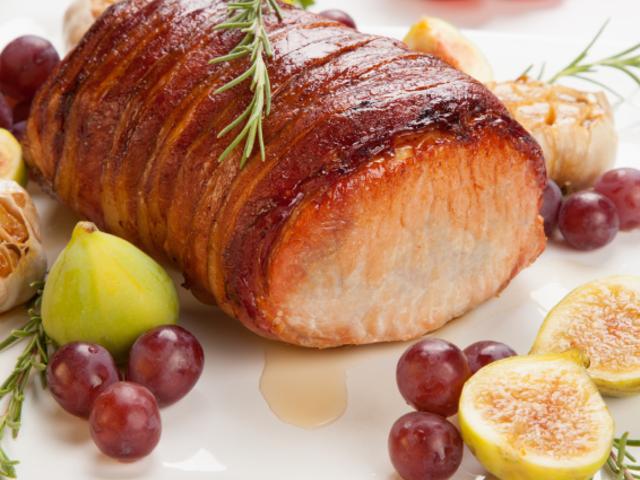 Свинско бонфиле в пушен бекон