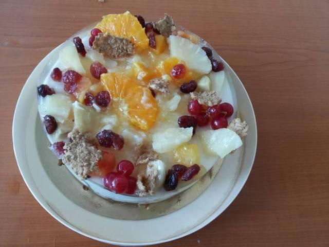Диетична торта с корнфлейкс и плодове