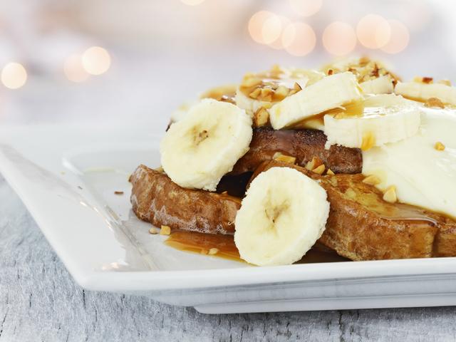 Вегански пържени филийки с банан