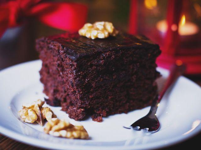 Брауни със смокини, какао и ванилия