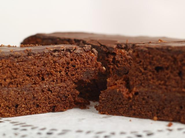 Много лесен какаов сладкиш