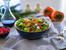Свежа салата с нар, спанак и портокал