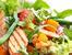 Пилешка салата с бадеми и сос терияки