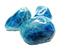 Три сини камъка за балансиране на гърлената чакра
