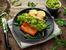 Сьомга на грил с дип от авокадо
