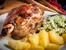 Печен свински джолан с лук