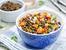 Средиземноморска салата с леща, лук и моркови