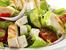Салата с печено месо, царевица и авокадо