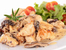 Пилешко със сметанов сос и гъби