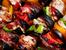 Шишчета с пилешко месо и бекон в марината