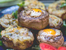 Пълнени гъби с шунка и яйце