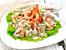 Салата със скариди, паста и авокадо