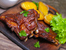 Свински ребърца с медена глазура и картофи