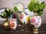 Цветна украса с декупаж за великденски яйца
