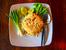 Пиле с гъби и ориз на тиган