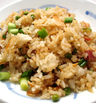 Ориз с бекон и грах на тиган