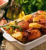 Пилешко с вкусна марината и картофи