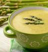 Супа с аспержи, лимон и мента