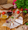 Печено свинско бонфиле с мед и горчица