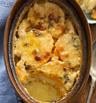 Гретен с тиква, сладки картофи и пармезан
