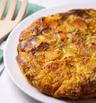 Фритата със сладки картофи и зеленчуци