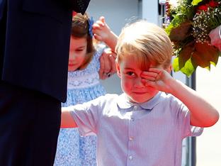 Принц Джордж на 5 години