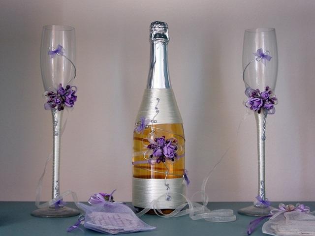 5 варианта да украсим шампанско за сватбата